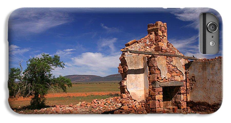 Cottage IPhone 6 Plus Case featuring the photograph Farmhouse Cottage Ruin Flinders Ranges South Australia by Ralph A Ledergerber-Photography