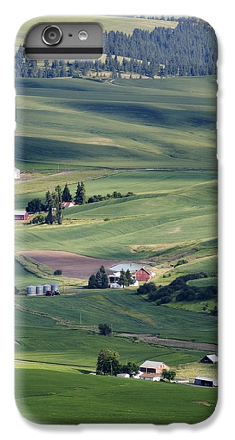 Fertile IPhone 6 Plus Case featuring the photograph Farmland In Eastern Washington State by Carl Purcell