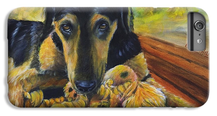 Dog IPhone 6 Plus Case featuring the painting Favorite Things by Nik Helbig