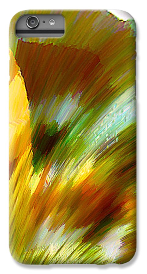 Landscape Digital Art Watercolor Water Color Mixed Media IPhone 6 Plus Case featuring the digital art Feather by Anil Nene