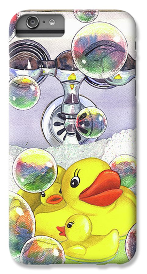 Bubbles IPhone 6 Plus Case featuring the painting Feelin Ducky by Catherine G McElroy