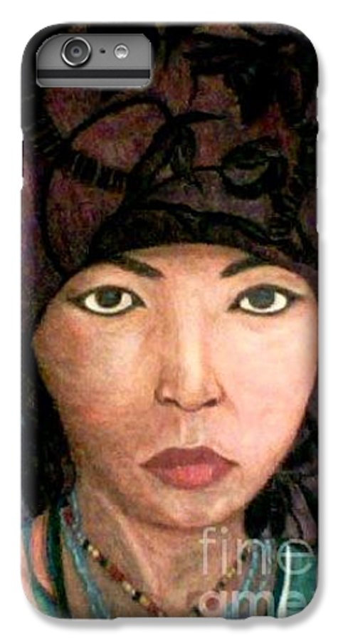 Portraits IPhone 6 Plus Case featuring the drawing Female Villager by Brenda L Spencer