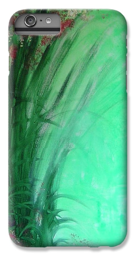 Green Ferns IPhone 6 Plus Case featuring the painting Ferns by Lizzy Forrester