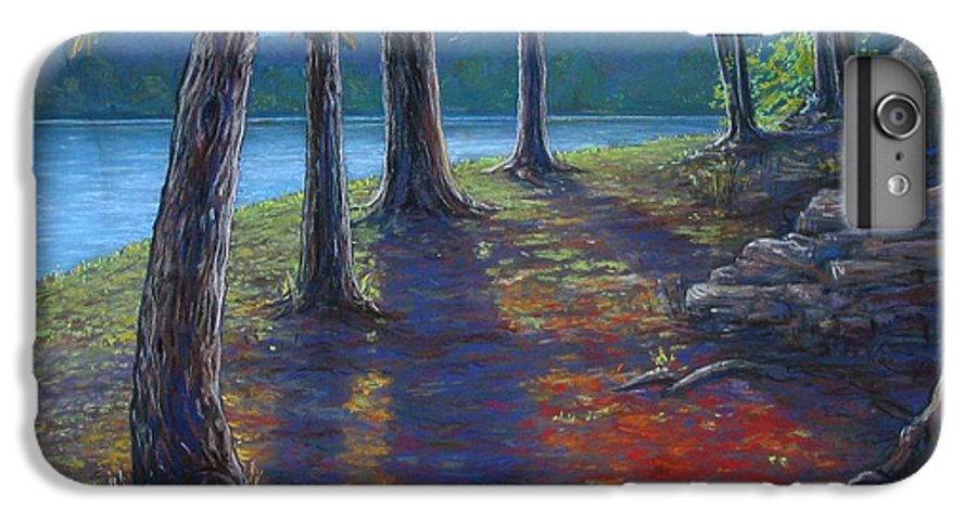 Landscape IPhone 6 Plus Case featuring the painting Fiery Fall Afternoon by Tanja Ware