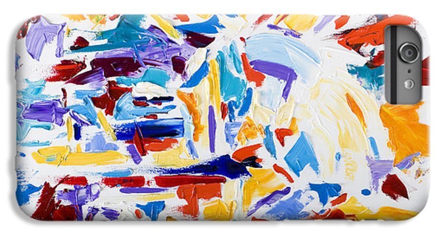 Abstract Yellow IPhone 6 Plus Case featuring the painting Fiesta by Shannon Grissom
