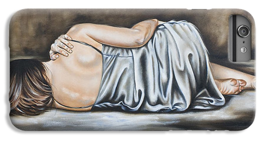 Figures IPhone 6 Plus Case featuring the painting Figure Hundred And Fifteen Of Seven by Ilse Kleyn