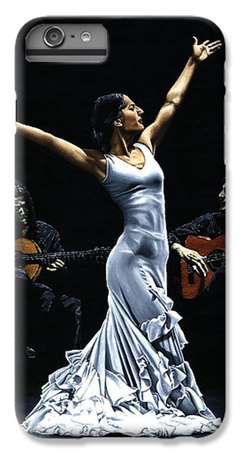Flamenco IPhone 6 Plus Case featuring the painting Finale Del Funcionamiento Del Flamenco by Richard Young