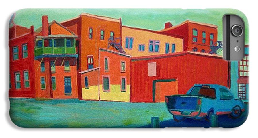 Cityscape IPhone 6 Plus Case featuring the painting Fire Escapes In Burlington by Debra Bretton Robinson