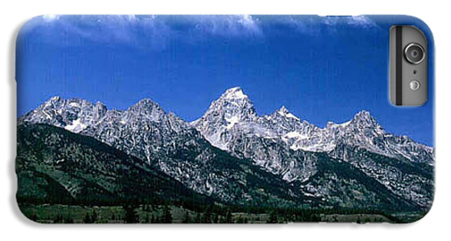 Mountains IPhone 6 Plus Case featuring the photograph First View Of Tetons by Kathy McClure