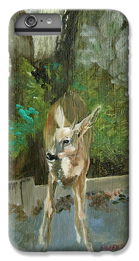 Deer IPhone 6 Plus Case featuring the painting First Young Buck Pad by Eileen Hale
