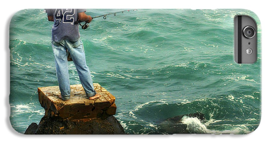 Americana IPhone 6 Plus Case featuring the photograph Fisherman by Marilyn Hunt