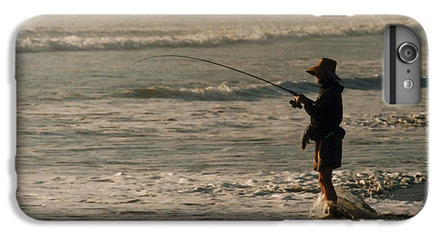 Fisherman IPhone 6 Plus Case featuring the photograph Fisherman by Steve Karol