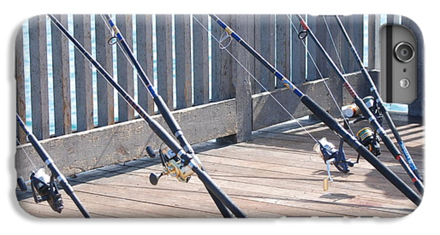 Pier IPhone 6 Plus Case featuring the photograph Fishing Rods by Rob Hans