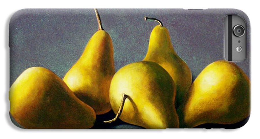 Still Life IPhone 6 Plus Case featuring the painting Five Golden Pears by Frank Wilson
