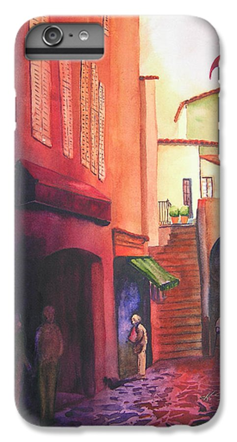 Europe IPhone 6 Plus Case featuring the painting Flag Over St. Tropez by Karen Stark