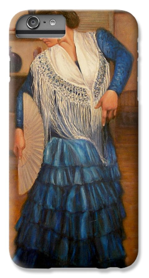 Realism IPhone 6 Plus Case featuring the painting Flamenco 2 by Donelli DiMaria