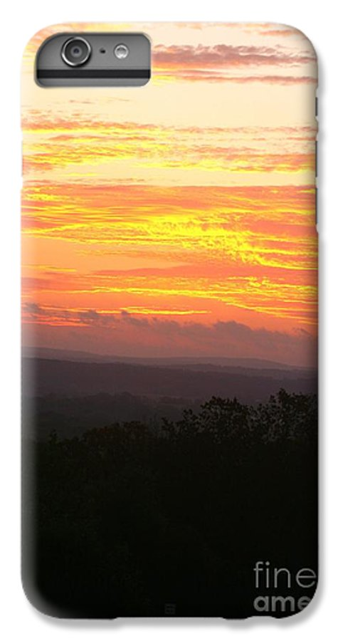 Sunrise IPhone 6 Plus Case featuring the photograph Flaming Autumn Sunrise by Nadine Rippelmeyer