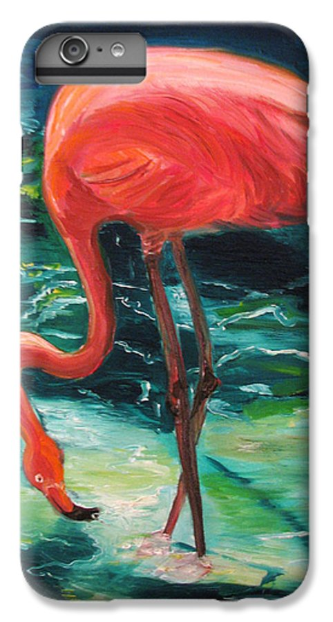 Flamingo IPhone 6 Plus Case featuring the painting Flamingo Of Homasassa by Patricia Arroyo