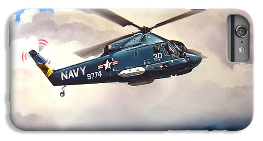 Military IPhone 6 Plus Case featuring the painting Flight Of The Seasprite by Marc Stewart