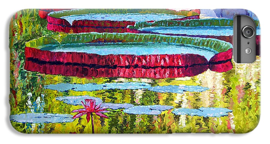 Lily Pond IPhone 6 Plus Case featuring the painting Floating Parallel Universes by John Lautermilch