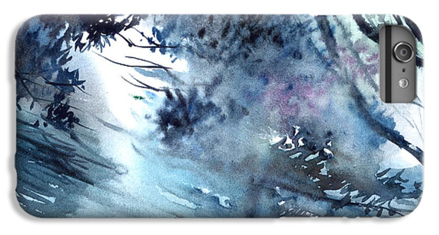Floods IPhone 6 Plus Case featuring the painting Flooding by Anil Nene
