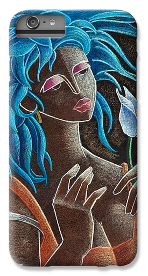 Puerto Rico IPhone 6 Plus Case featuring the painting Flor Y Viento by Oscar Ortiz