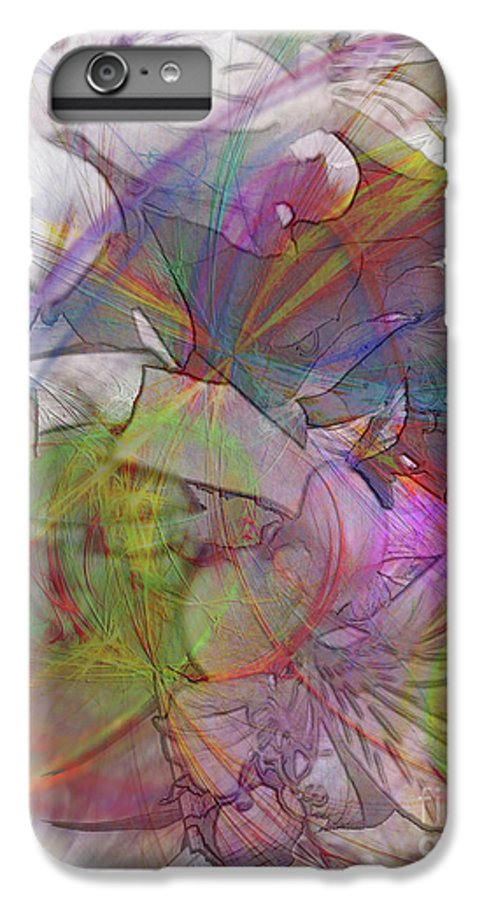 Floral Fantasy IPhone 6 Plus Case featuring the digital art Floral Fantasy by John Beck