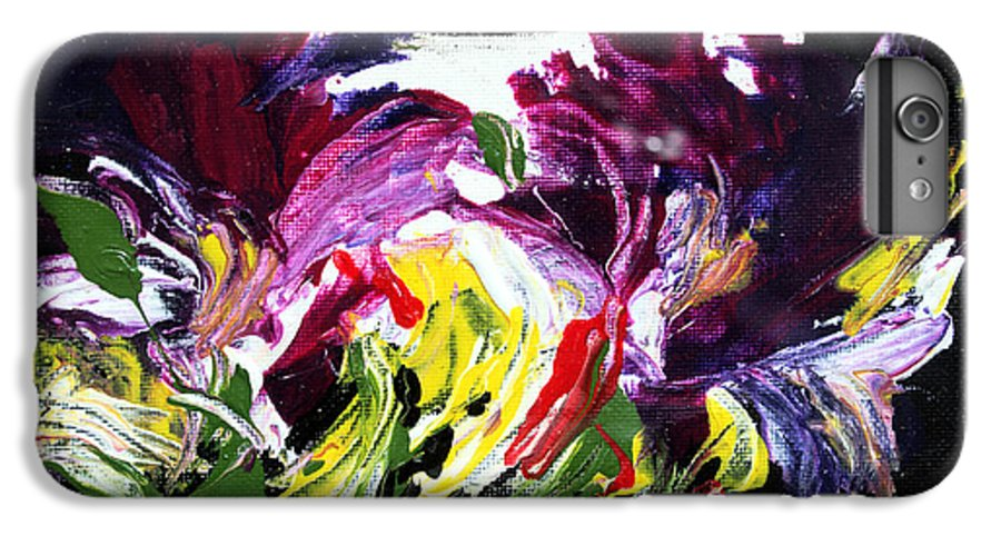 Abstract IPhone 6 Plus Case featuring the painting Floral Flow by Mario Zampedroni