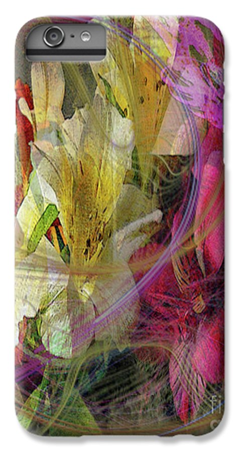 Floral Inspiration IPhone 6 Plus Case featuring the digital art Floral Inspiration by John Beck