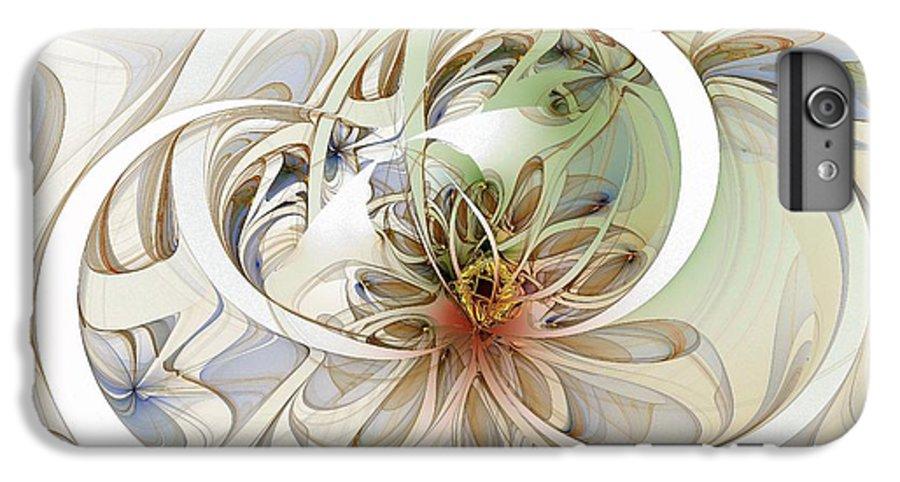 Digital Art IPhone 6 Plus Case featuring the digital art Floral Swirls by Amanda Moore