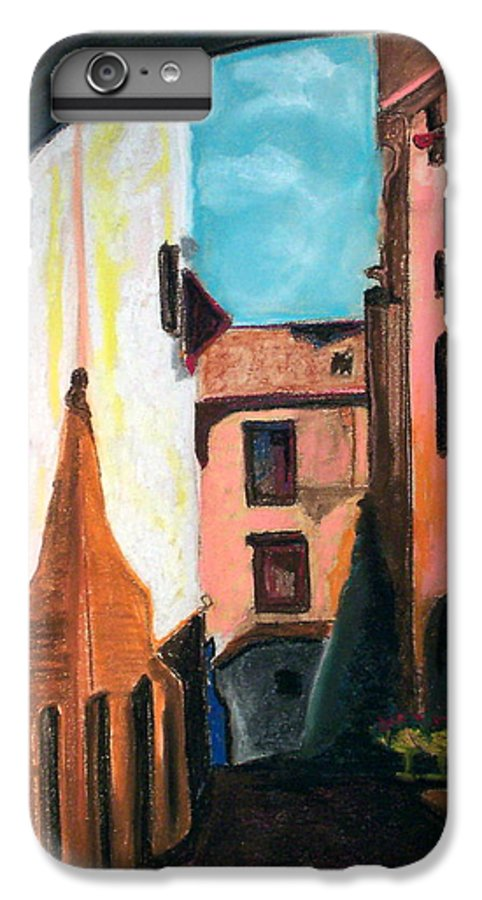 Pastel IPhone 6 Plus Case featuring the drawing Florence Cove by Patricia Arroyo