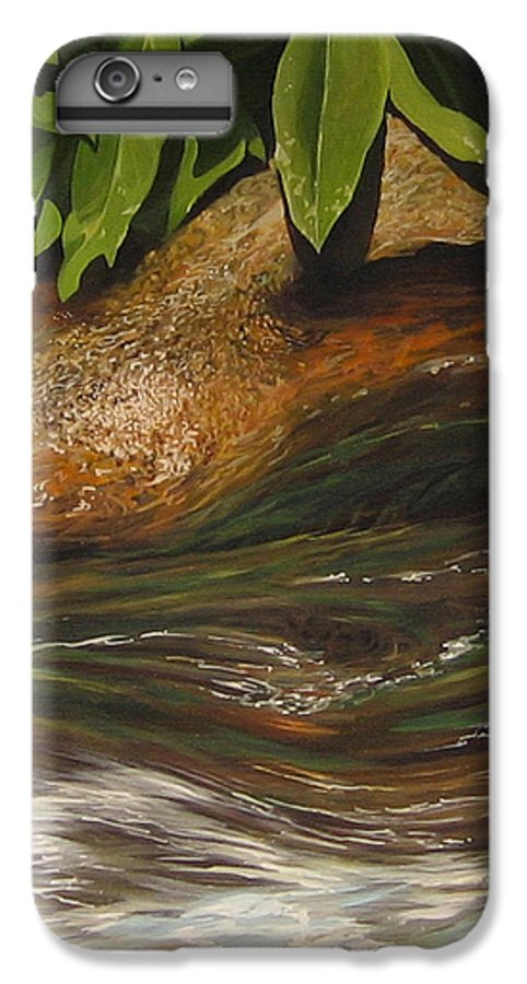Colorado Mountain Stream IPhone 6 Plus Case featuring the painting Flow by Hunter Jay