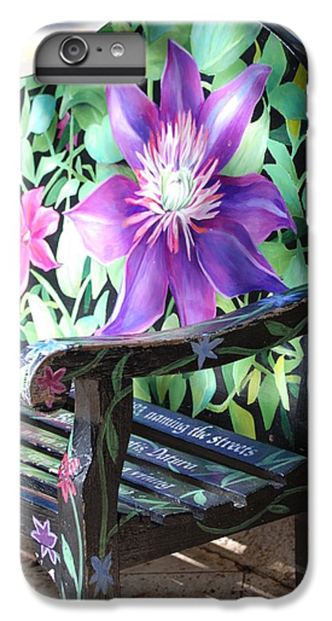 Macro IPhone 6 Plus Case featuring the photograph Flower Bench by Rob Hans