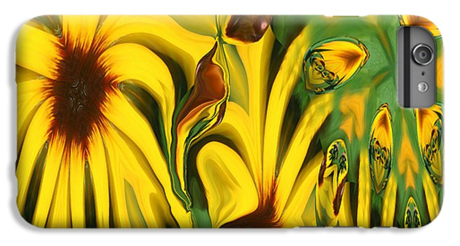 Abstract IPhone 6 Plus Case featuring the photograph Flower Fun by Linda Sannuti