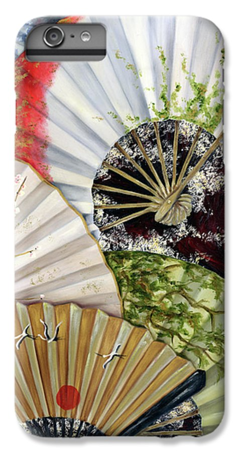 Japanese IPhone 6 Plus Case featuring the painting Flower Garden by Hiroko Sakai