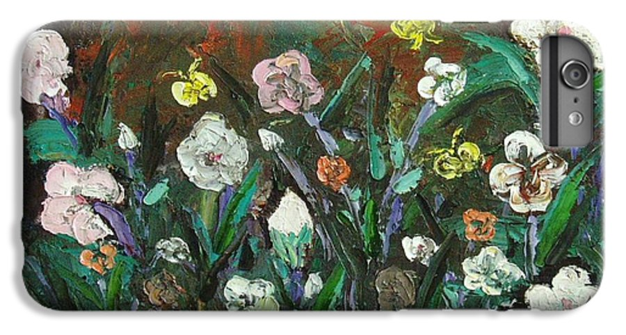 Abstract Paintings IPhone 6 Plus Case featuring the painting Flower Garden by Seon-Jeong Kim