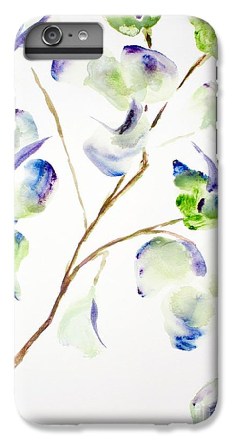 Flower IPhone 6 Plus Case featuring the painting Flower by Shelley Jones