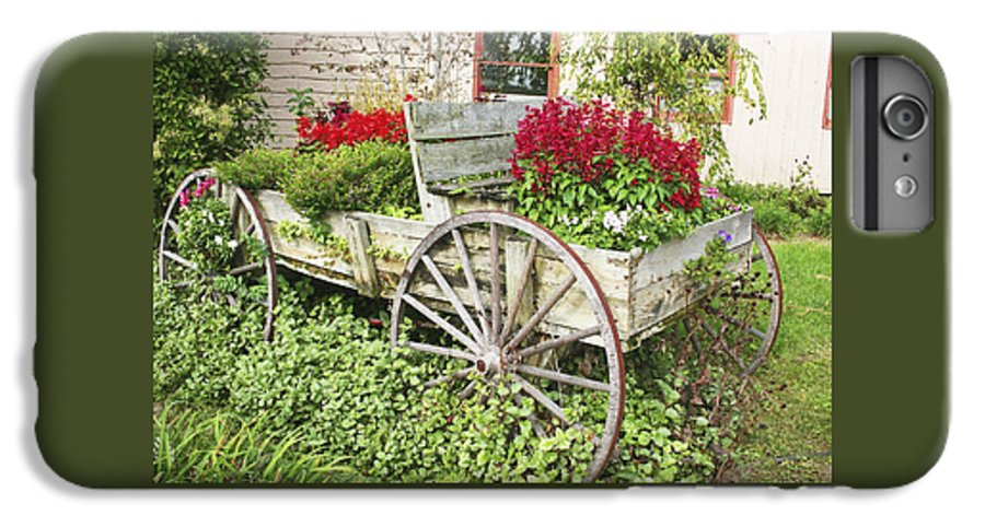 Wagon IPhone 6 Plus Case featuring the photograph Flower Wagon by Margie Wildblood