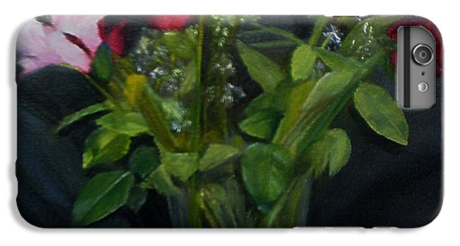 Flowers IPhone 6 Plus Case featuring the painting Flowers For Sarah by Sheila Mashaw