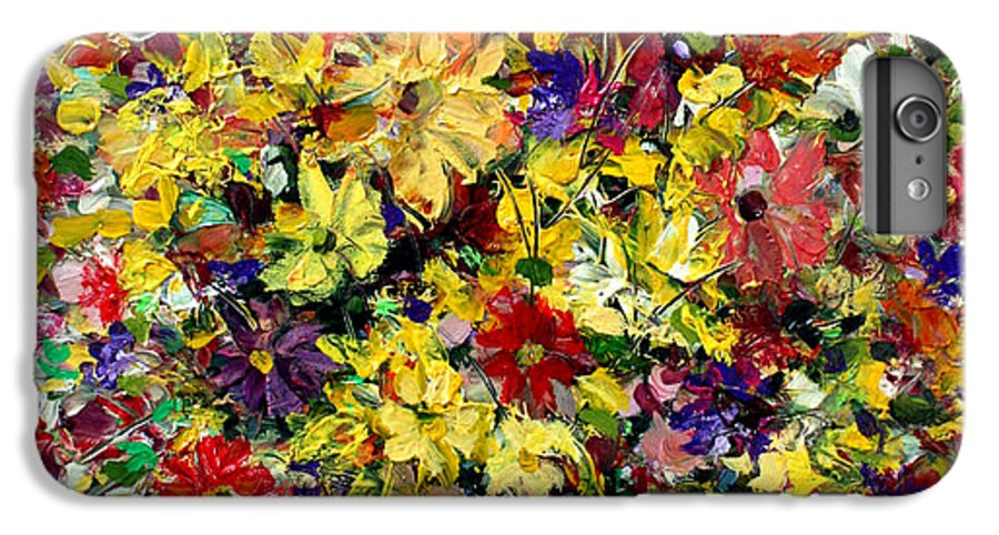 Flowers IPhone 6 Plus Case featuring the painting Flowers by Mario Zampedroni