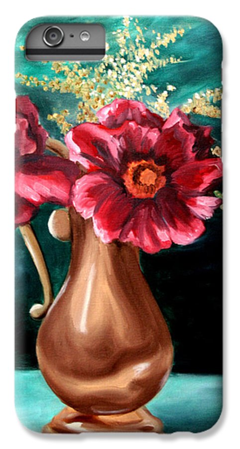 Flower IPhone 6 Plus Case featuring the painting Flowers by Maryn Crawford