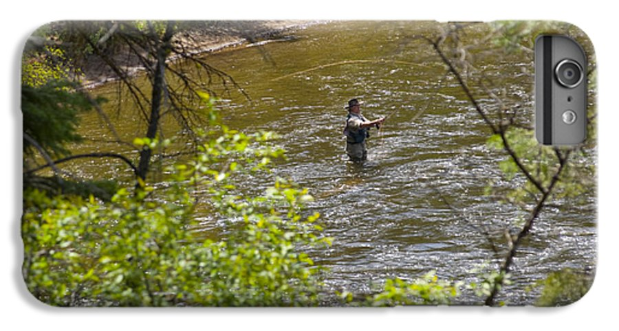Fishing IPhone 6 Plus Case featuring the photograph Fly Fishing by Louise Magno