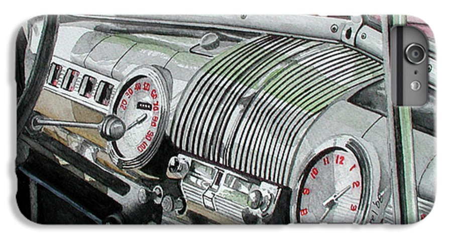 Car IPhone 6 Plus Case featuring the painting Ford Dash by Ferrel Cordle