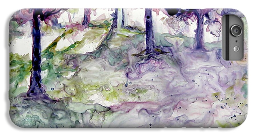 Fastasy IPhone 6 Plus Case featuring the painting Forest Fantasy by Jan Bennicoff