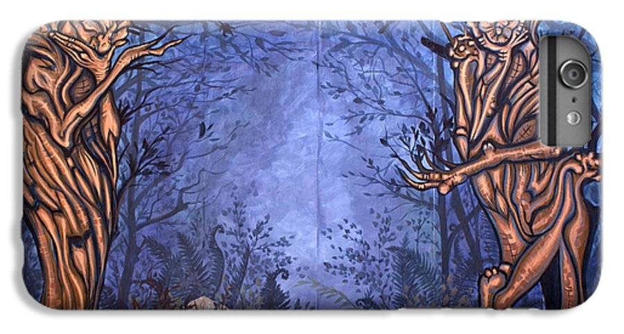 Mystic IPhone 6 Plus Case featuring the painting Forest by Judy Henninger