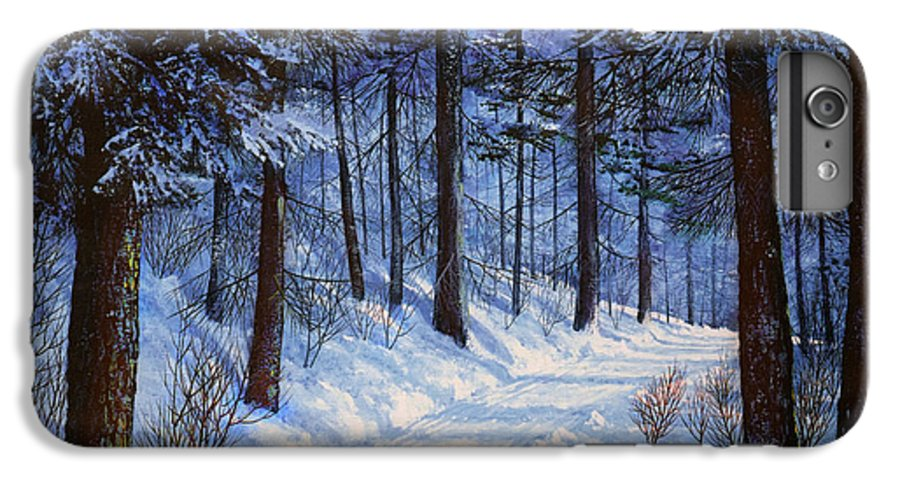 Landscape IPhone 6 Plus Case featuring the painting Forest Road by Frank Wilson