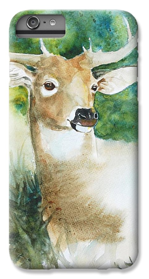 Deer IPhone 6 Plus Case featuring the painting Forest Spirit by Christie Martin