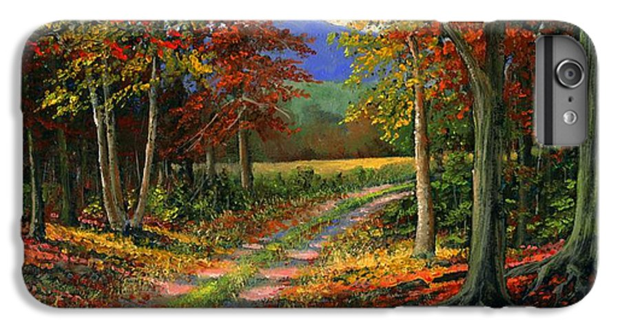 Landscape IPhone 6 Plus Case featuring the painting Forgotten Road by Frank Wilson