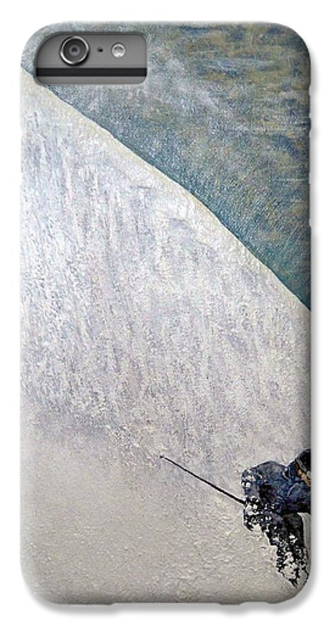 Landscape IPhone 6 Plus Case featuring the painting Form by Michael Cuozzo