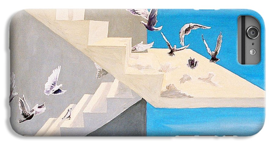 Birds IPhone 6 Plus Case featuring the painting Form Without Function by Steve Karol